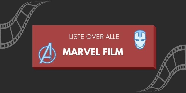 liste over alle marvel film